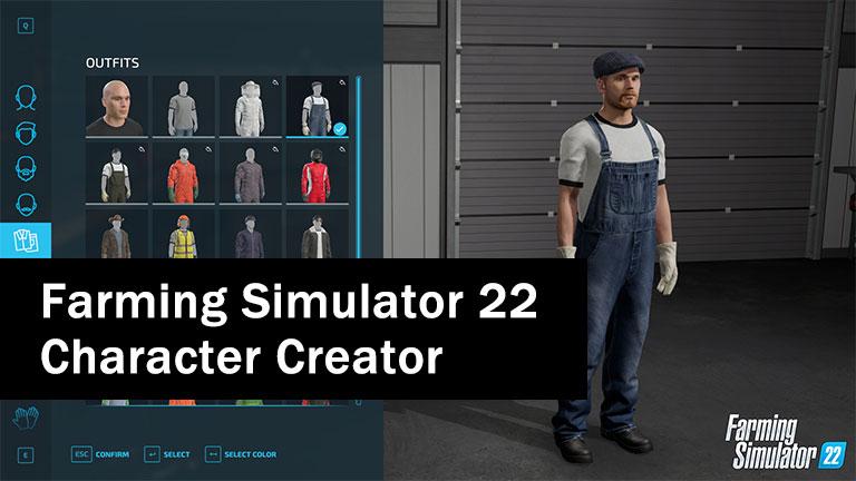 Look at the new character creator in Farming Simulator 22